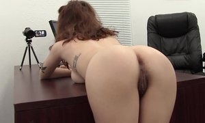 Bent over the desk and fucked her hairy ass Beeg