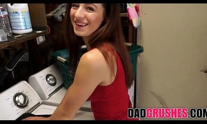 Fucking My Skinny brunette Teen Daughter In Laundry Room