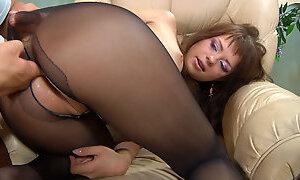 Anal-Pantyhose Clip: Jessica B and Govard