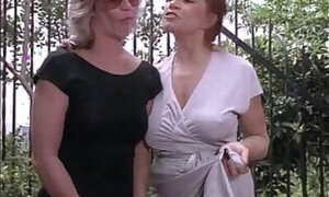 Retro lesbo video featuring good-looking MILFs