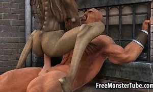 Hot 3D cartoon monster babe getting fucked hard xVideos