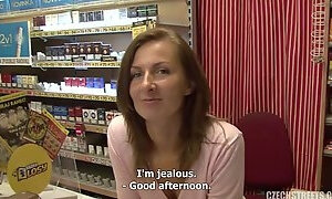 Salesgirl is picked up for dirty sex