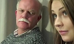 Old/young porn scene with a really kinky grandpa