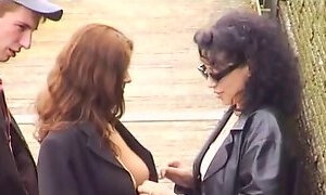 Sexy nudist French babes love getting naked in public