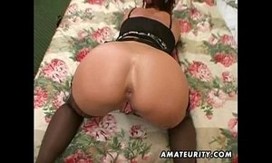 Naughty amateur wife plays with cum in mouth xVideos