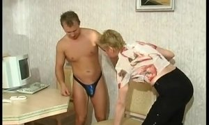 Horny Granny Still Loves Sex With Hot-Blooded Hustlers AnalDin