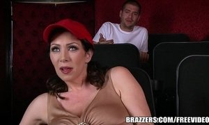 Brazzers - Dude fucks stepmom in the porn theater xVideos