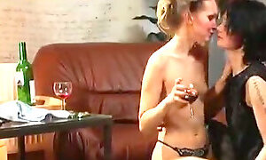 Blonde slut is open to letting her lesbian girlfriend lick her pussy