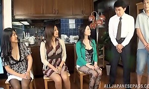 Oral Sex Orgy With Busty Babes Sitting On Guy