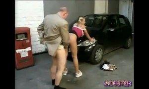 Dad fucked hot daughter in garage xVideos