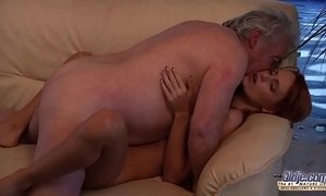 Old Man Falls In Love With Beautiful Young Redhead and Fucks Her Pussy xVideos