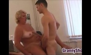 Chubby Grandma Fucking In Her Office xVideos