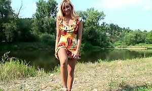 Juggy blond mom rides young lover in cowgirl style
