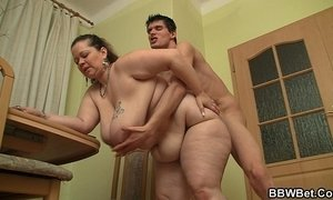 Bigcocked guy bangs big belly plumper from behind xVideos