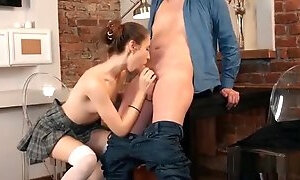 Nice Schoolgirl Gets Seduced And Pounded By Her Older Instru