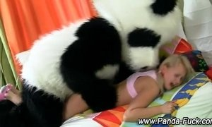 Plush panda and teen fake facial xVideos