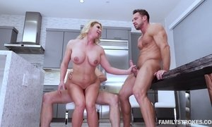 Whorish milf Phoenix Marie seduces husband's friend and arrange dirty 3some sex AnySex