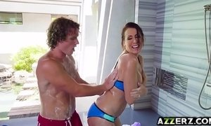 Horny stepmom Reagan Foxx hot fuck in the shower xVideos