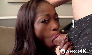 Can her skinny African ass survive his monster cock