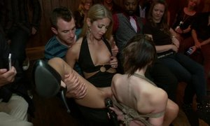 Young Sensi Pearl gets tied up and fucked in public Beeg
