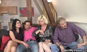 Sweetie gets lured into 3some by her BF's parents xVideos