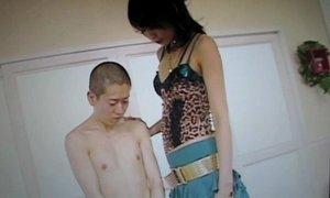 JAPANESE TALL GIRL FUCKS MALE CHAUVINISM!!!! (1)