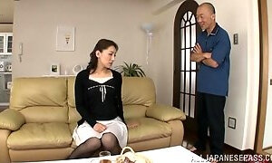 Asian Cougar With A Hot Body Enjoying A Hardcore Doggy Style Fuck On Her Sofa