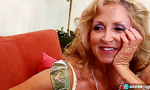 My Lustful Granny Laughts Meeting Big-Dicked Burly Black Guy