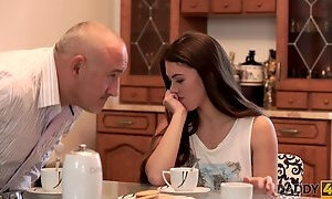 DADDY4K. An abused girlfriend will fuck with your fathe