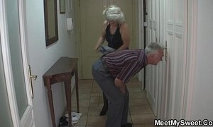 Perverted old parents fuck blonde girl xVideos