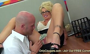 Big breasts Brooke Haven banging hard in the office