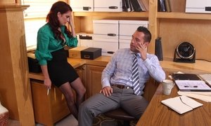 Lonely boss spends time with horny secretary Beeg