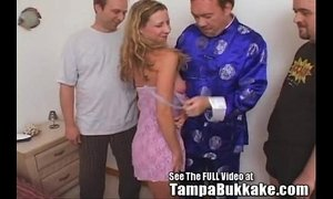 Slut Wife Sherry's Group Sex Tampa Bukkake Slumber Party! xVideos