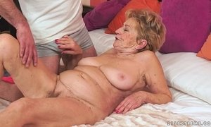 Kinky old granny loves big dick