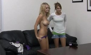 Casting two young girls. Facial cumshot Beeg