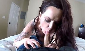 EX Con comes to work by taking dick in the mouth blow job