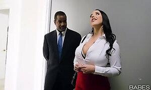Buxom MILF Angela Seduces Black Daddy By Her Appetizing Tits