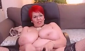 Libely the SPERMY Romanian MILF Webcam Bitch With HER FUCKING BAZOOKA-SIZED COLOSSAL FUCK-MELON-BOSOMS TO SPERM ON