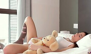 Pretty Teen With Long Socks Gets Pounded