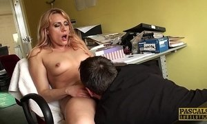 Pussy fingered brit enjoys rough treatment xVideos