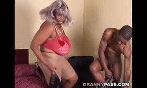 BBW Ebony Granny Fucks Big Black Cock xVideos
