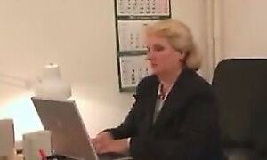 Chubby Grandma Fucking In Her Office