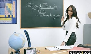 French tutor Anissa Kate ass-fuck xxx with her crank student