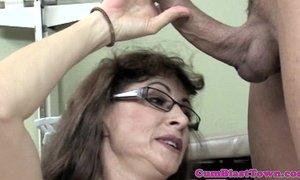 Hairy cumloving mature in stockings xVideos