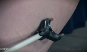 Bearded pervert is punishing pussy of tied up tattooed bitch Lux Lives