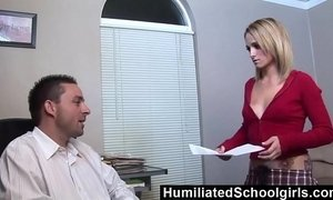 HumiliatedSchoolGirls - Melanie uses her tight pussy to seduce her StepDad xVideos