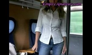 Hot German Cougar With Big Tits Gets Fucked On The Train & Her Tits Pasted In Cum xVideos