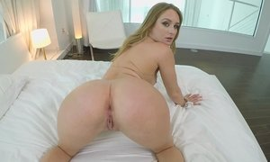 Breathtaking Blonde Tart Offers Her Young Bottom To Hunged Guy