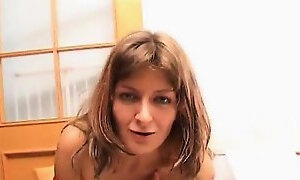Naughty blonde milf Helen is drunk again and strips off her clothes
